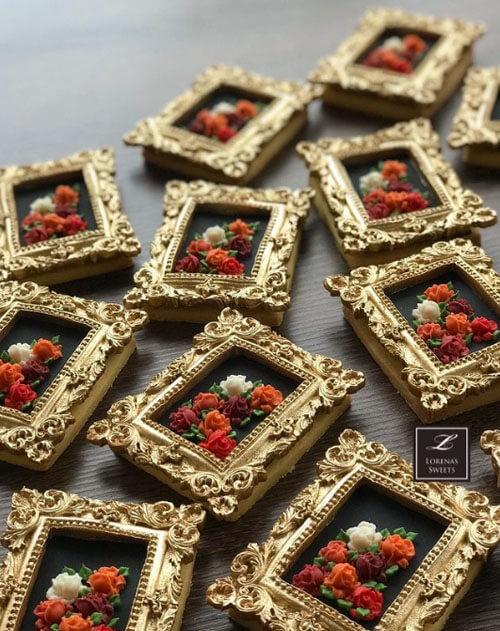 удивительно красивое печенье