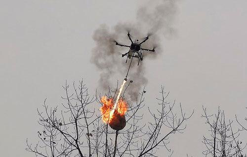 дроны стали летающими огнемётами