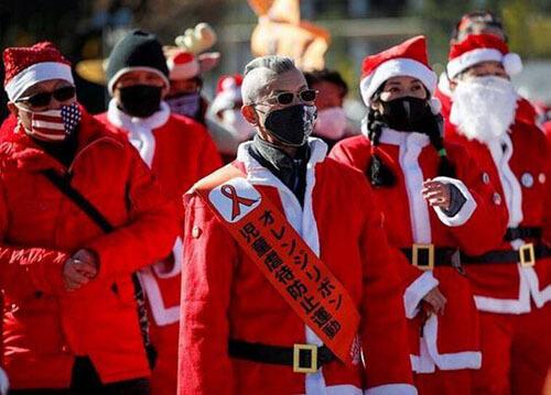 байкеры на рождественском параде