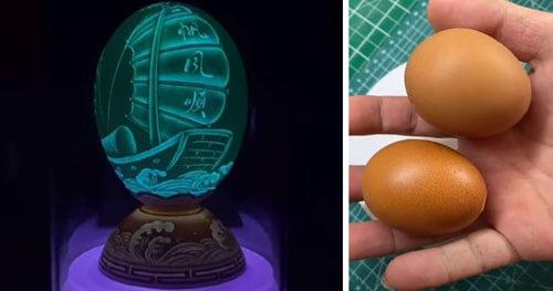 рисунки на яичной скорлупе