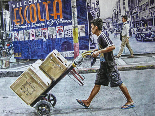 street watercolor scenes