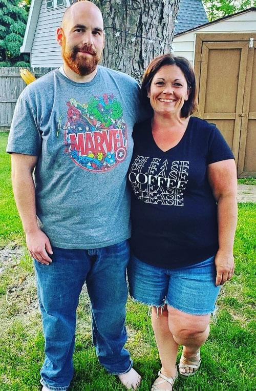 футболка похудевшего мужчины
