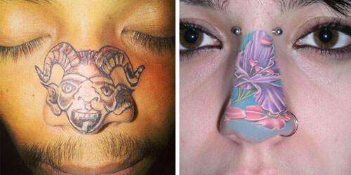люди татуируют себе носы