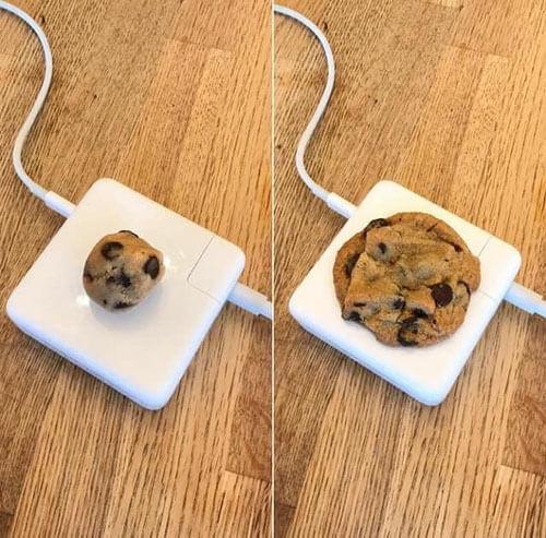 зарядное устройство с печеньем