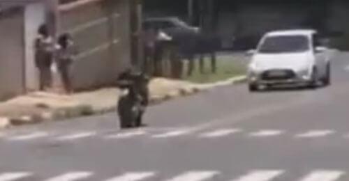 мотоцикл удрал от хозяина