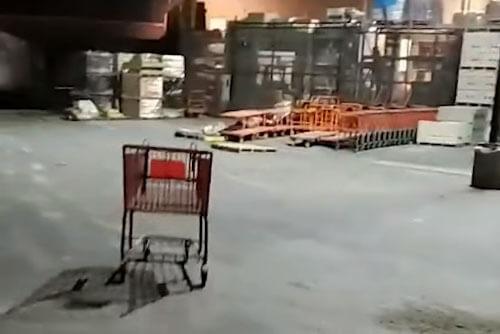 трюк с магазинной тележкой