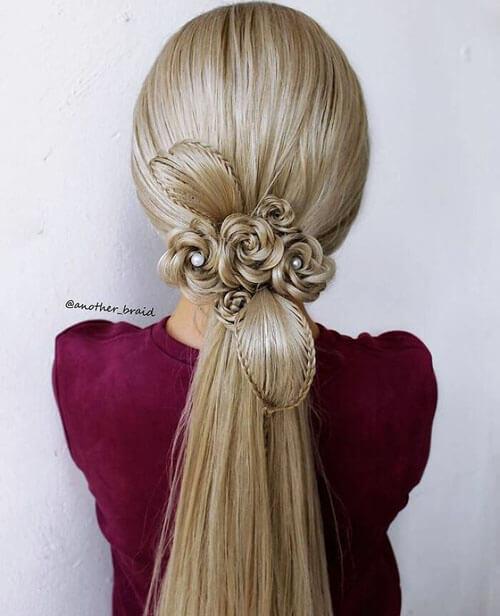 фантастические причёски с косами