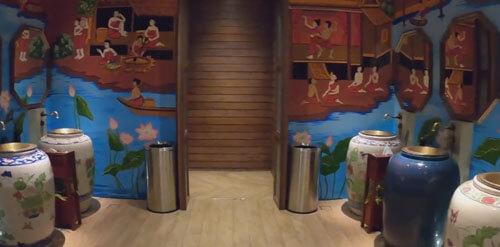 красивый туалет в торговом центре