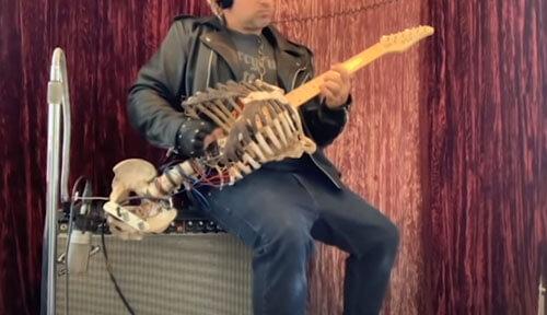 гитара из скелета дяди