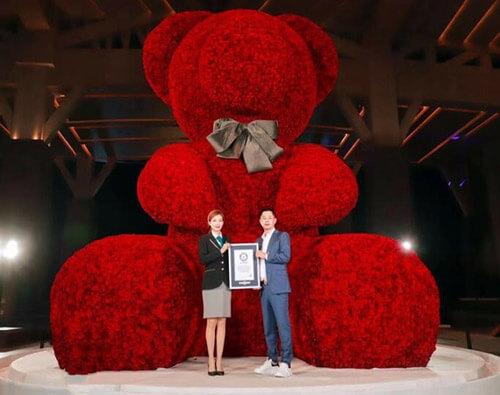 record bear of roses