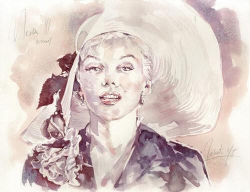 художница рисует вином