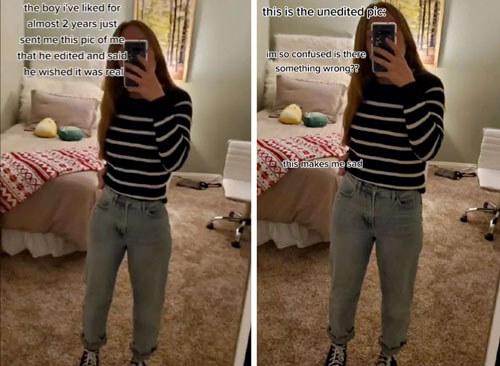 отредактированное фото девушки