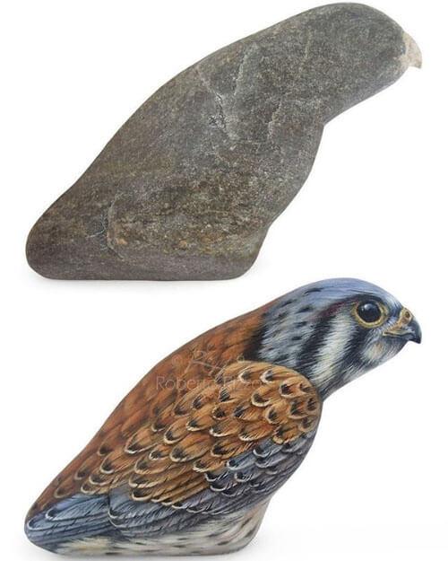 художник оживляет камни