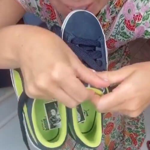 дети не путают обувь