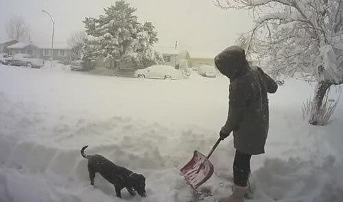 непродуктивная чистка снега