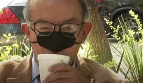 защитная маска прикрывает нос