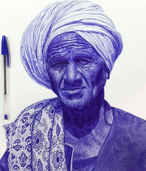 рисунки шариковыми ручками