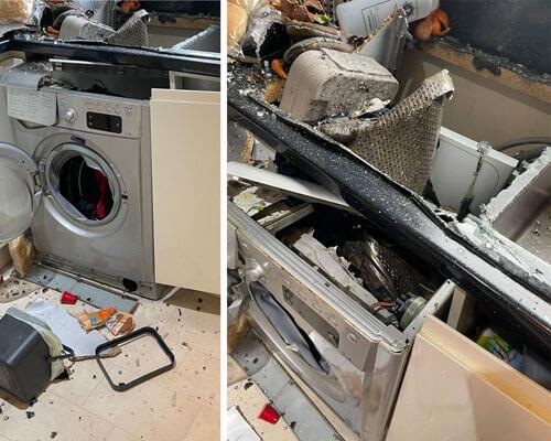 стиральная машина взорвалась