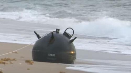 морская мина на пляже