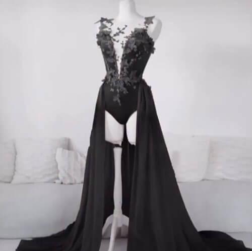 заказанное экстравагантное платье