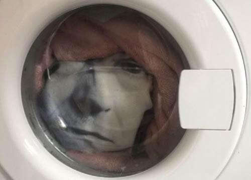 лицо в стиральной машине