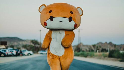 прогулка в костюме медведя