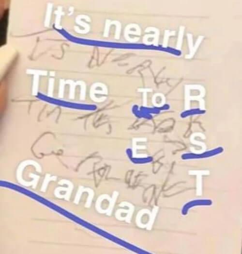последнее послание от дедушки