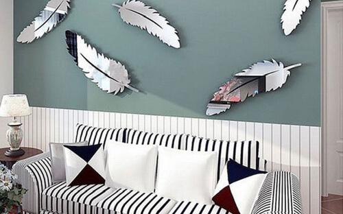 украшения на стену в виде перьев