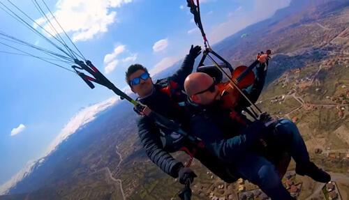 игра на скрипке в небе