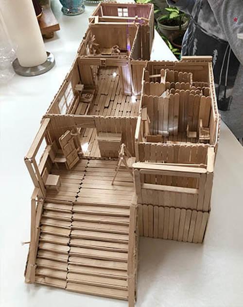 башня из палочек от эскимо