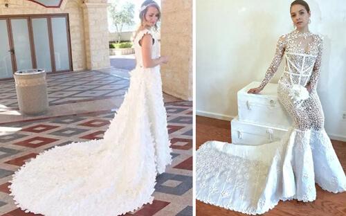 платья из туалетной бумаги