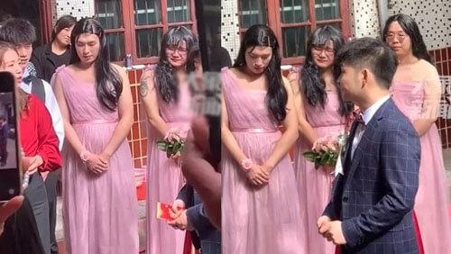 мужчины подружки невесты