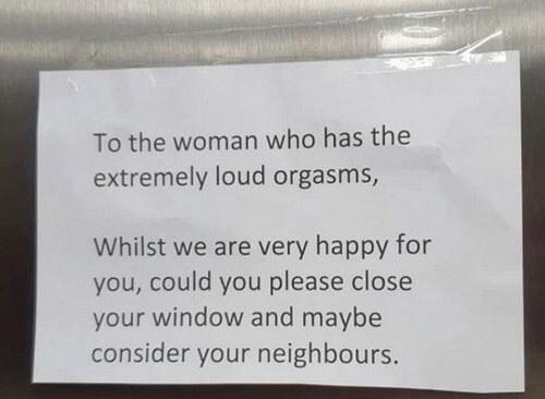стыд из-за записки от соседей