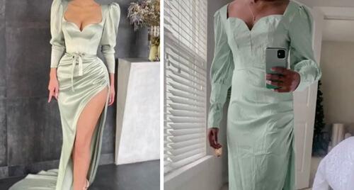 платье сшитое из мятых занавесок