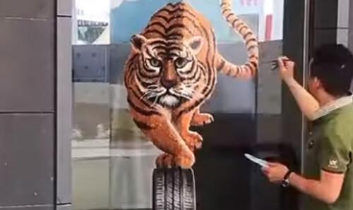 необычные иллюзии художника