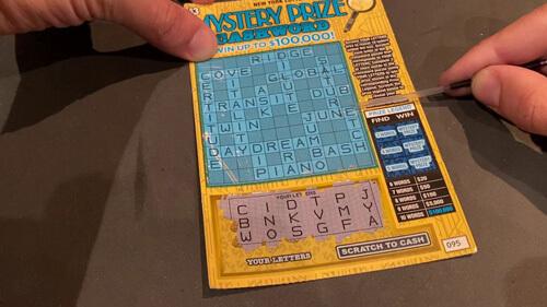 уговоры кассирши насчёт лотереи