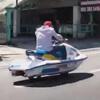 катание на гидроцикле по дороге
