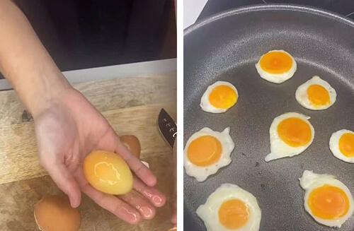 мини-яичница на завтрак