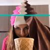 мороженое из цветных шапок