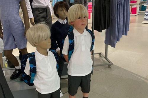 манекен похож на сынишку