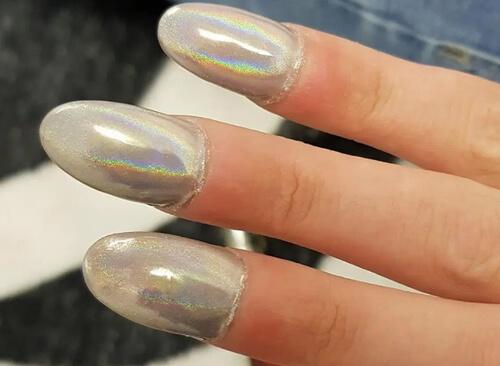 круглый дизайн ногтей
