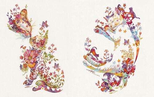 акварельные цветочные мотивы