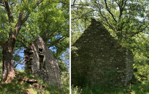 руины деревни с привидением