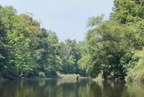встреча с бигфутом на реке