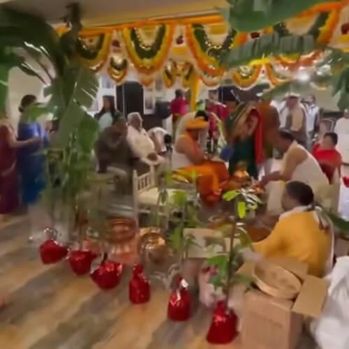 жених работает на свадьбе