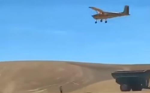сэндвич выбросили из самолёта