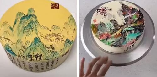 торты с китайской живописью