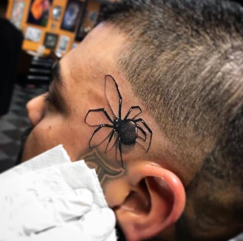 реалистичные татуировки с пауками