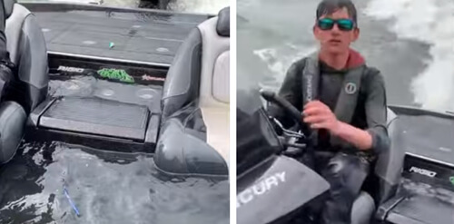 лодка наполнилась водой