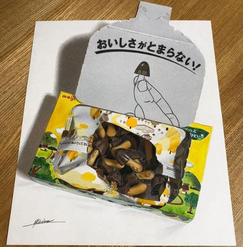 иллюзии японского художника